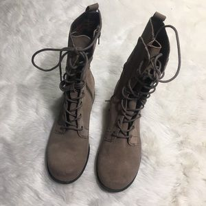 Seychelles Lace Up Leather Combat Boots 8